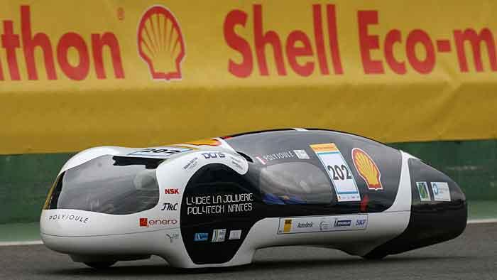Die Fahrzeuge des Shell Eco Marathons haben sehr niedrige Cw-Werte.