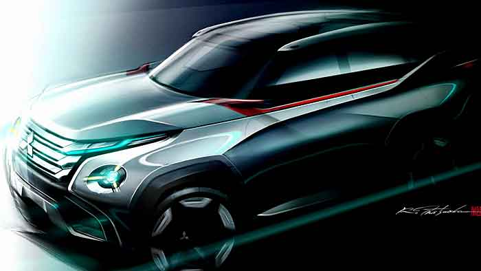 Am Ende der Mitsubishi-Studie GC-PHEV könnte der neue Pajero stehen.