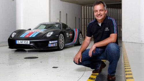 Michael Pfadenhauer leitet bei Porsche die Aerodynamik.