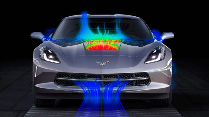 Die Corvette Stingray wurde aerodynamisch optimiert.