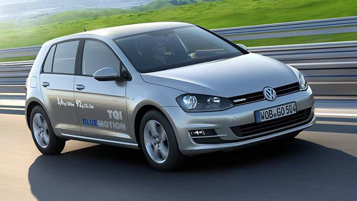 Der VW Golf TGI BlueMotion.