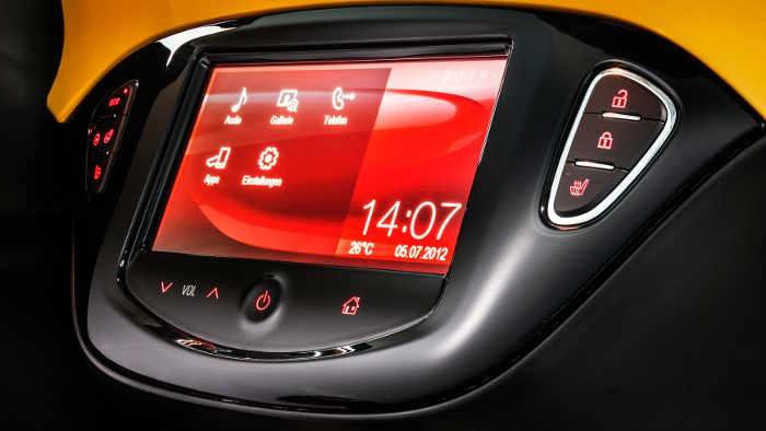 so sieht der Startbildschirm beim Intelli-Link-System von Opel aus.