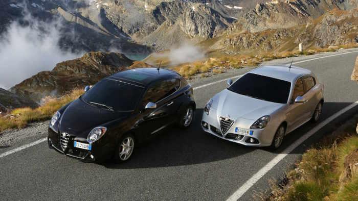 Die Giulietta und der MiTo von Alfa.