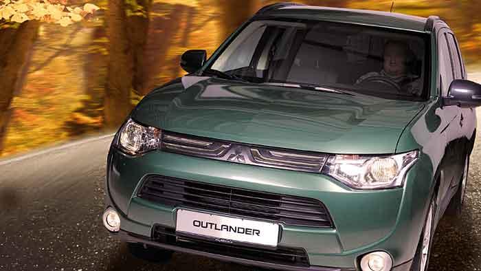 Mitsubishi schickt den Outlander in die Natur.
