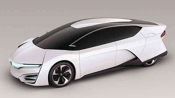 Die Brennstoffzelle passt in den Motorraum des Honda FCEV.