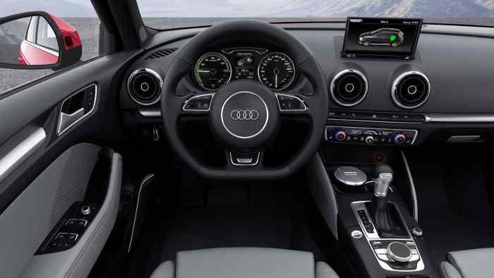 Das Cockpit des Audi A3 Sportback