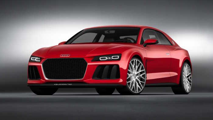 Technikstudie von Audi mit Laserlicht