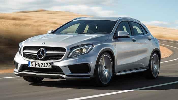 Der Mercedes GLA 45 AMG benötigt 4,8 Sekunden für den Sprint.