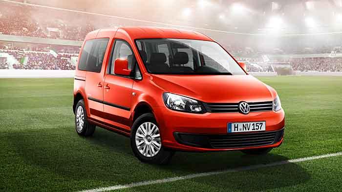Für jedes Tor gibt es beim VW Caddy Soccer 50 Euro als Rabatt.