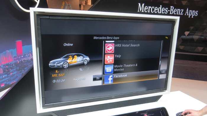 Von HRS bis Facebook: Apps in einem Mercedes.