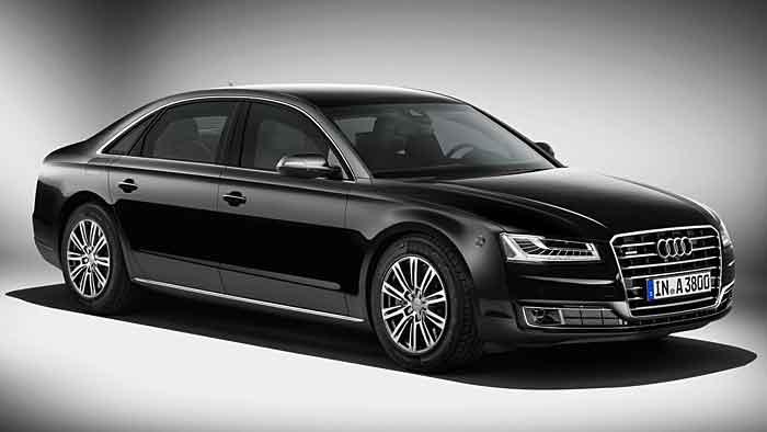 Der Audi A8 L Security verhindert auch das Eindringen von Gasen.