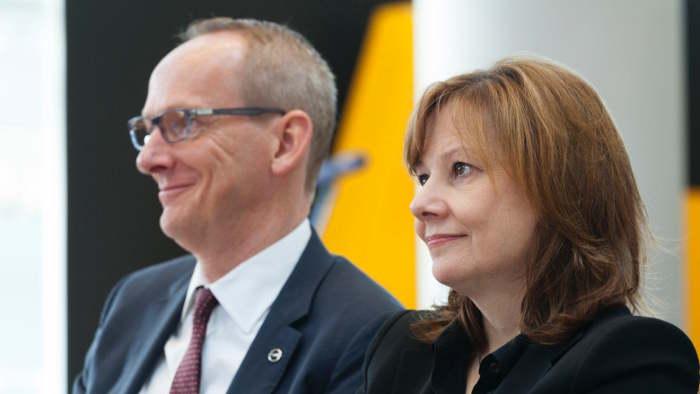 GM-Chefin Mary Barra mit Opel-Chef Karl-Thomas Neumann