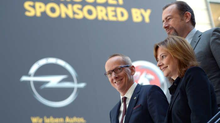 Opel-Chef Neumann, Ammann, GM-Chefin Barra