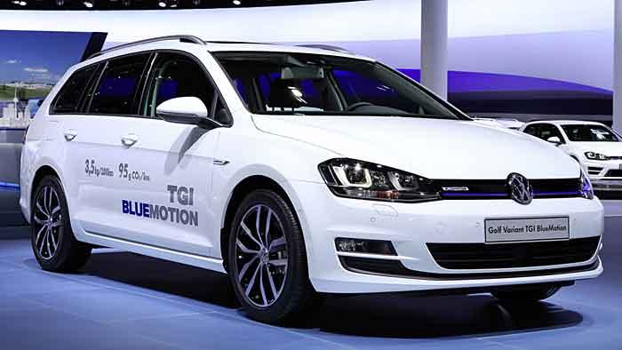 Der VW Golf TGI kommt mit vier Euro auf 100 Kilometern aus.