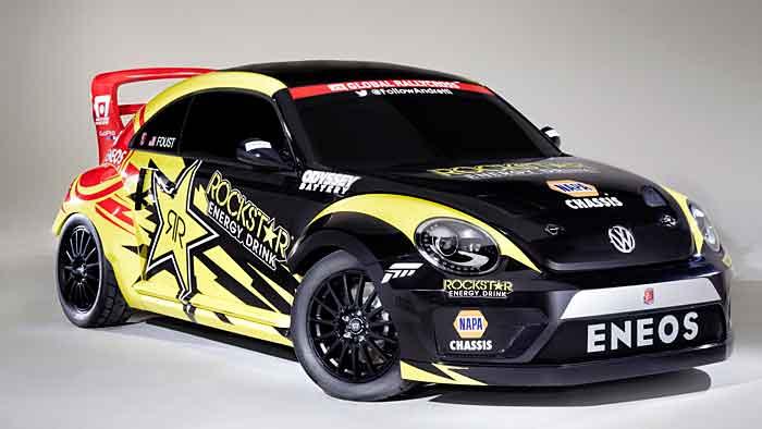 VW präpariert Beetle für Rallyecross