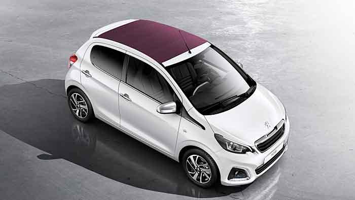Den Peugeot 108 gibt es auch mit Faltdach.