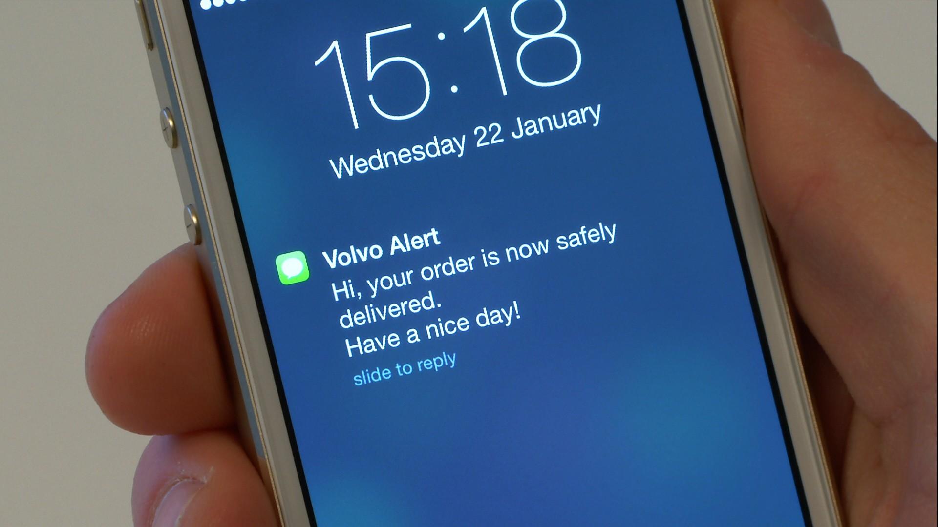 Volvo schickt eine SMS aufs Handy
