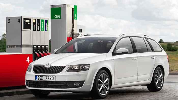Der Skoda Octavia G-Tec kann sowohl mit Erdgas als auch Benzin betankt werden.