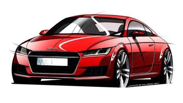 Der Audi TT wird in Genf gezeigt.