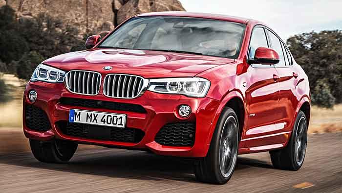 Der BMW X4 feiert Weltpremiere auf der Autoshow in New York.