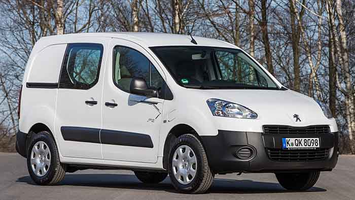 Der Peugeot Partner Electric schafft bis zu 170 Kilometer.