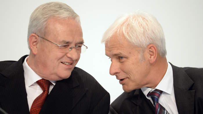 Martin Winterkorn (l.) und Matthias Müller.
