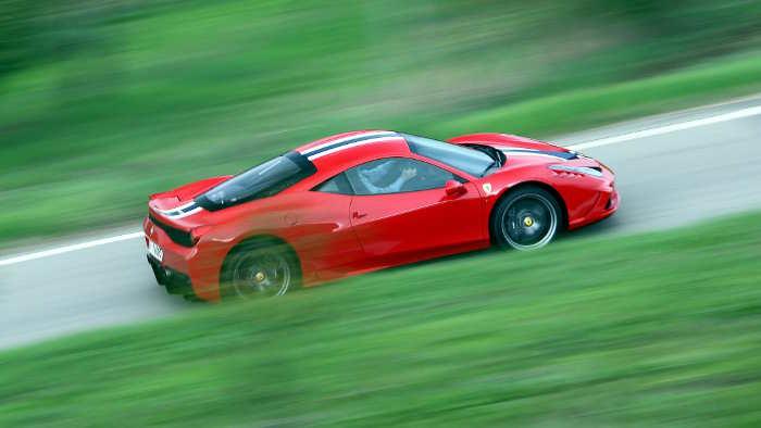 Ein Ferrari 458 Speciale.