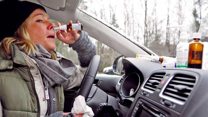 35 Prozent der Autofahrer haben Heuschnupfen