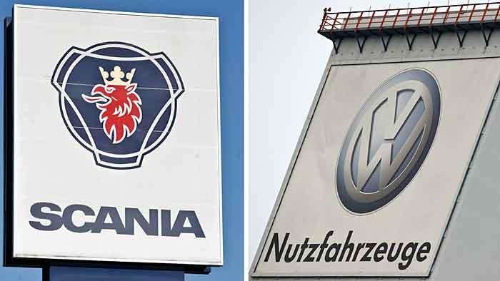 VW besitz fast 100 Prozent der Aktien von Scania.