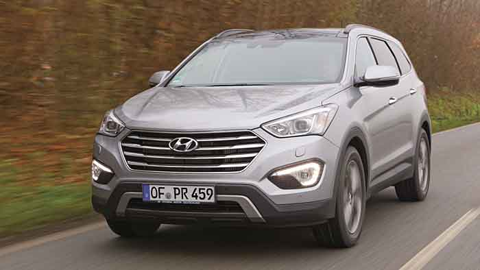 Der Hyundai Grand Santa Fe verfügt in der Topvariante über 197 PS.