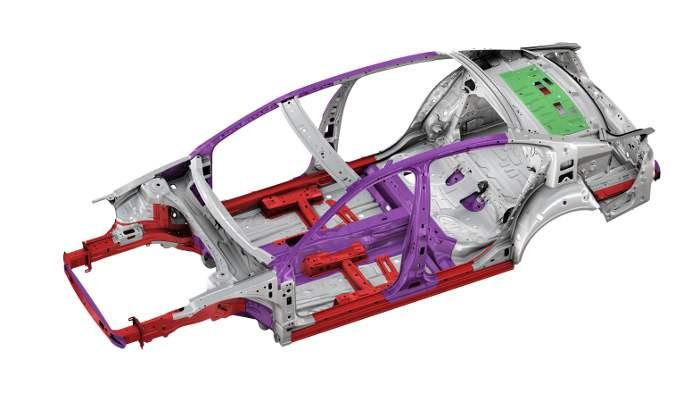 Karosseriestruktur des neuen VW Passat