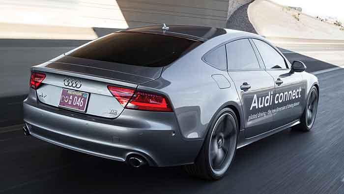 Ein in Nevada autonom fahrender Audi A7.