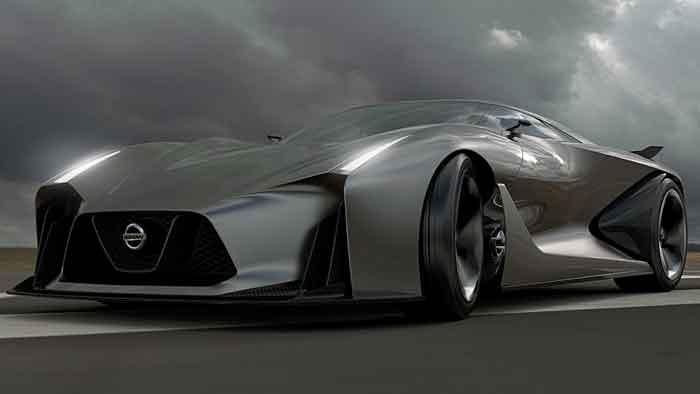 Der Nissan Concept 2020 Vision Gran Turismo feiert Premiere in Goodwood.