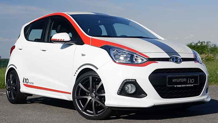 Hyundai hat den i10 sportlich ausgestattet.