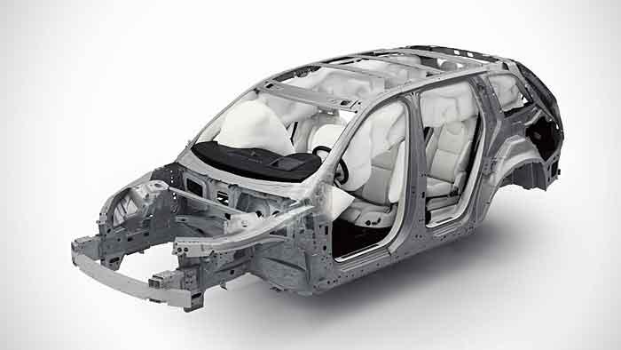 Extra festen Stahl verwendet Volvo beim neuen XC90.