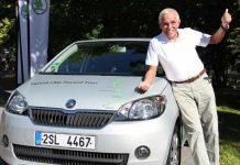 Gerhard Plattner ist ab Dienstag mit einem Octavia G-TEC unterwegs.