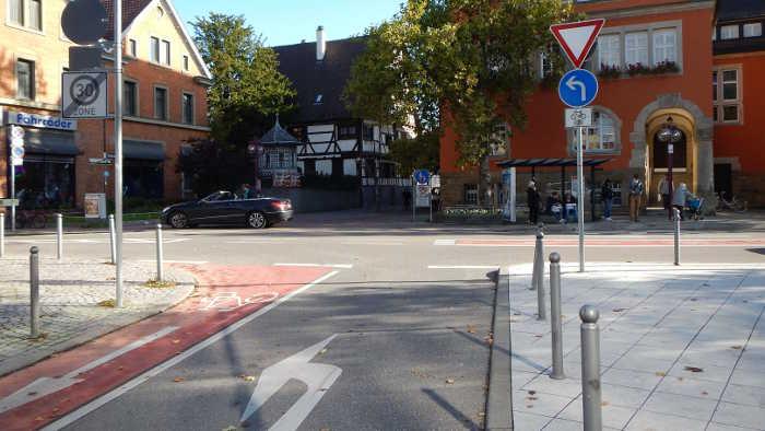 Radfahren in Stuttgart.