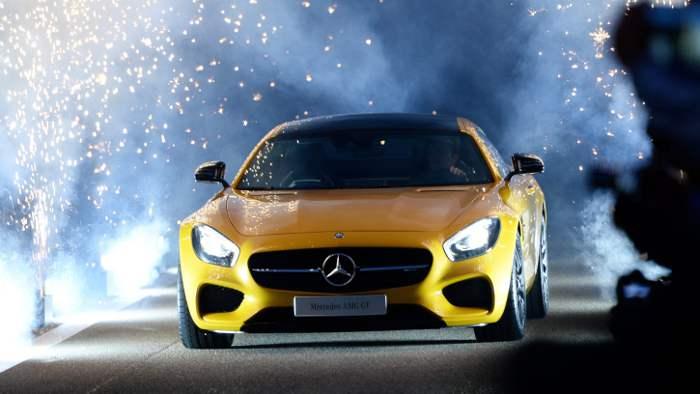 Der Mercedes AMG GT.