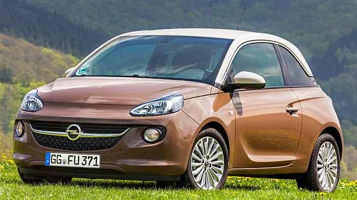 Das Opel Adam-Sondermodell ist in Cappuccino-Braun gehalten.