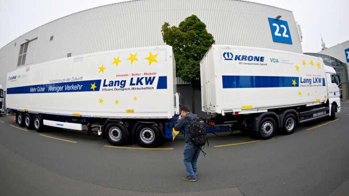 Die SPD ist für einen Test mit Lang-Lkw.