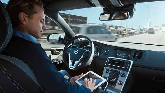 Autonom unterwegs in einem Volvo