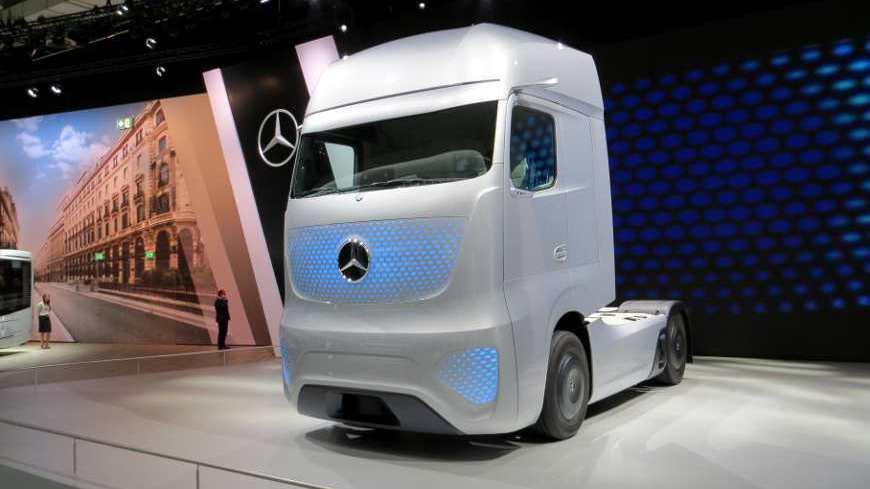 Der Mercedes Future Truck 2025 auf der IAA.
