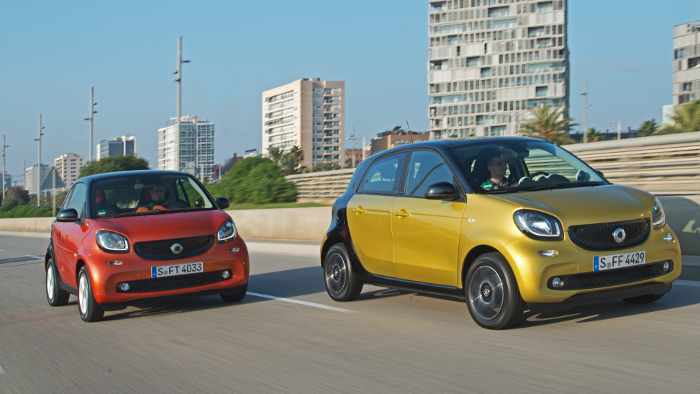 Smart fortwo und Smart forfour