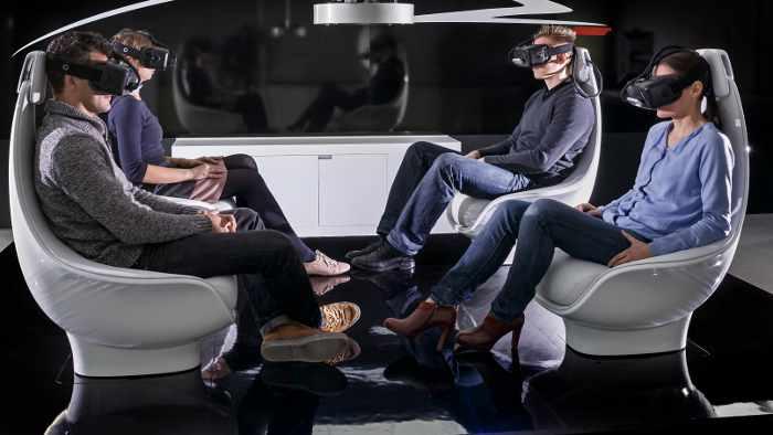 In der Zukunft sitzen sich die Passagiere gegenüber.