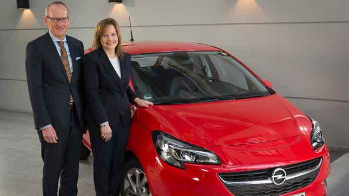 GM-Chefin Mary Barra freut sich, Opel-Chef Karl-Thomas Neumann hofft.
