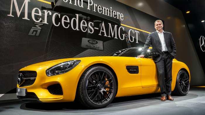 Tobias Moers bei der Weltpremiere des Mercedes AMG GT.