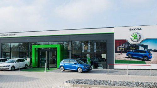 Das Autohaus Hackerott mit neuem Skoda-Markenauftritt