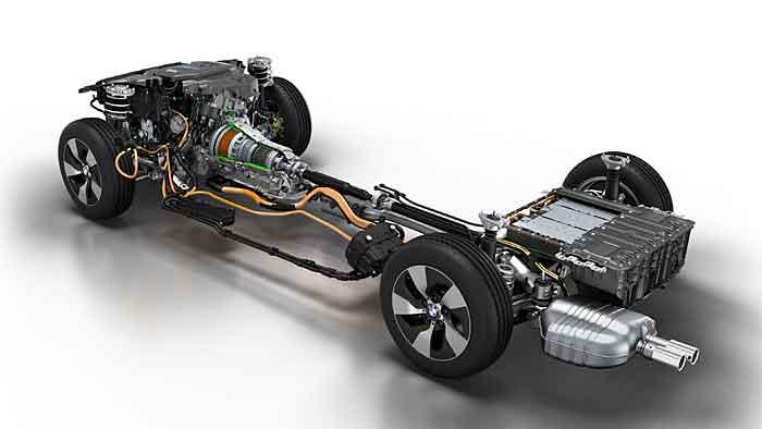 Der Antriebsstrang des BMW 3er Plugin-Hybrid.