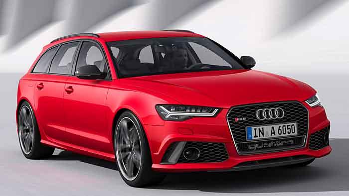 Der Audi RS6 Avant soll sich mit 9,6 Litern zufrieden geben - theoretisch.
