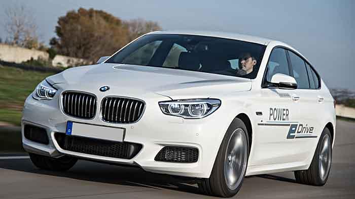 BMW hat den 5er GT als Versuchsfahrzeug elektrisiert.